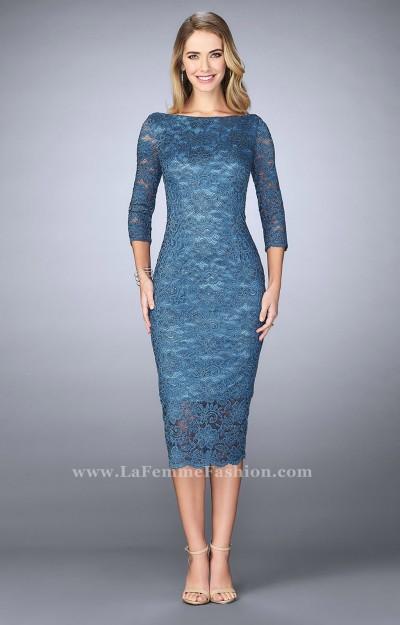 3 4 Sleeve Tea Length Dress