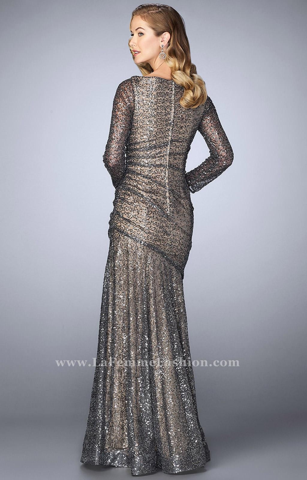 La Femme 24919 Long Sleeve Sequin Dress Prom Dress