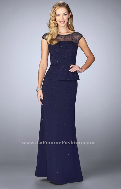 Jersey Knit Gown with Cap Sleeves
