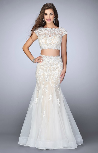 Two Piece Mermaid with Lace and Tulle