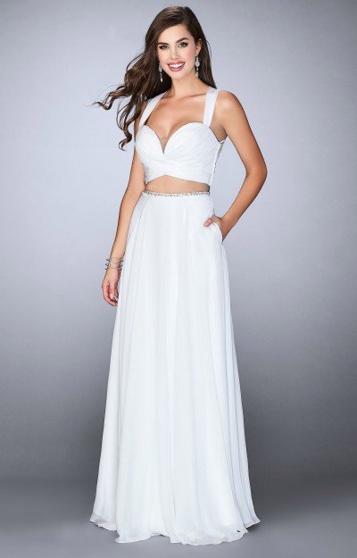 2 Piece Long Chiffon Dress