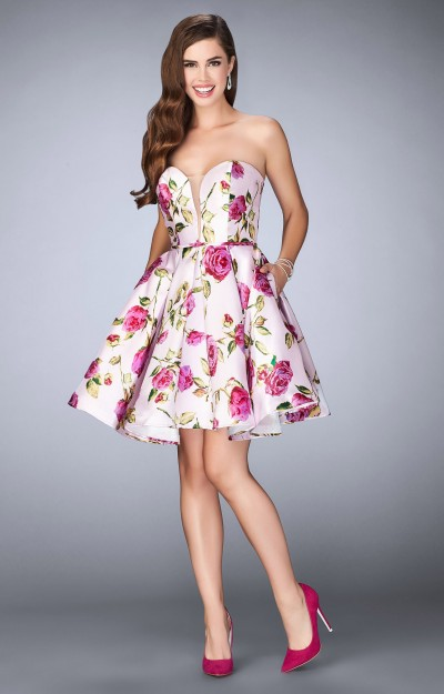 Floral Printed A Line Short Dress