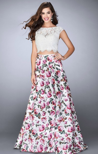 Two Piece Ball Gown with Corset Back