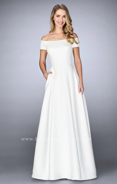 Boat Neck Off the Shoulder Ball Gown