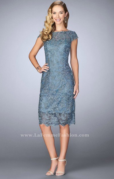 Capped Sleeve Lace Short Dress