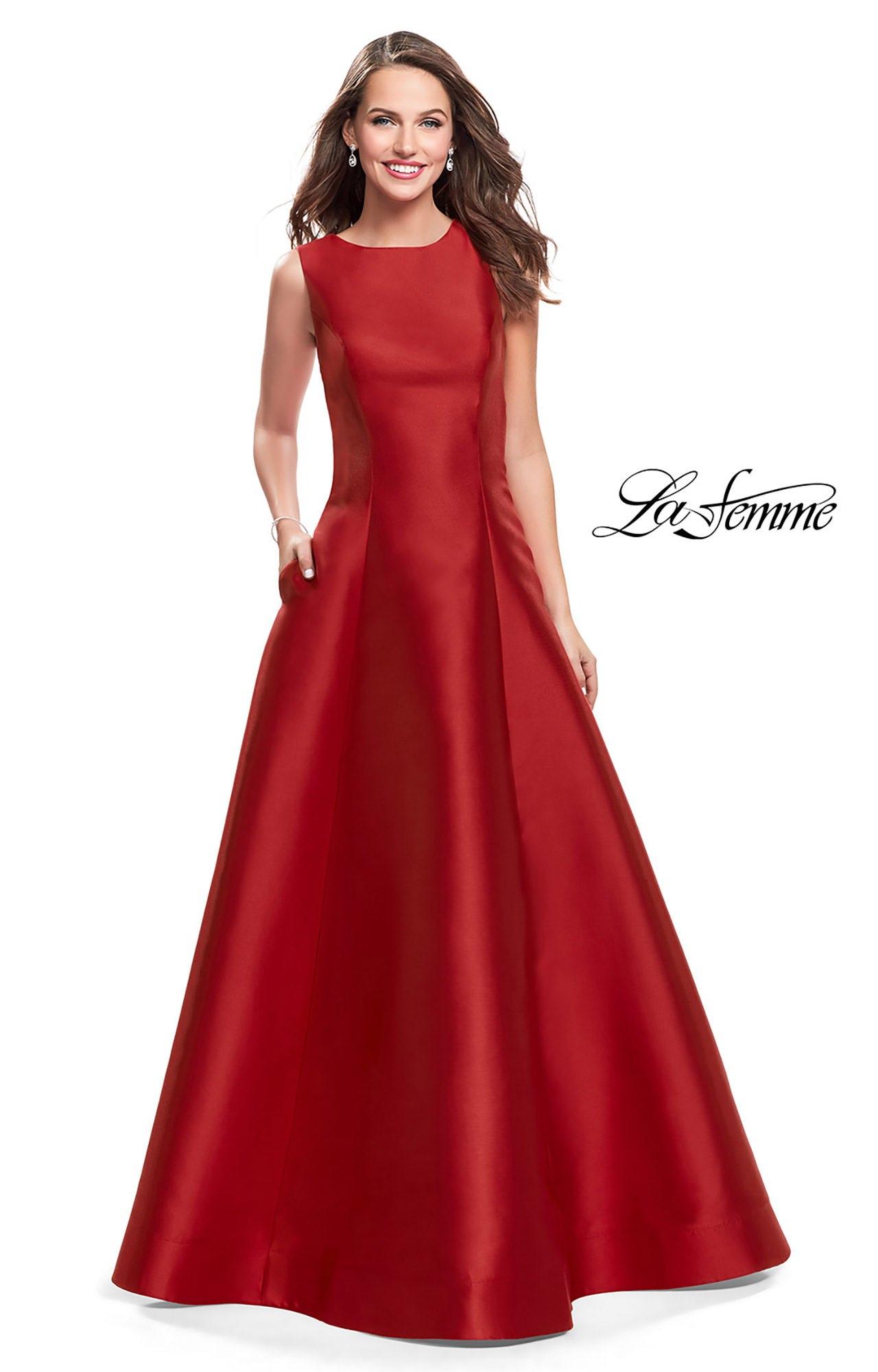 La Femme 25425 - Long Mikado Ball Gown Prom Dress