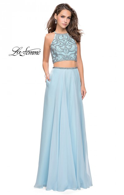 Long A-Line Chiffon 2 Piece