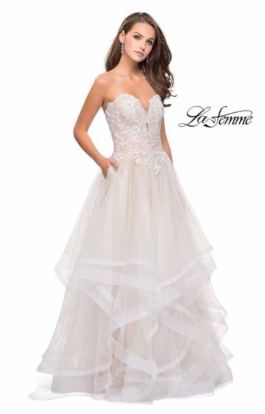 La Femme 25515 Strapless and Sweetheart picture 1