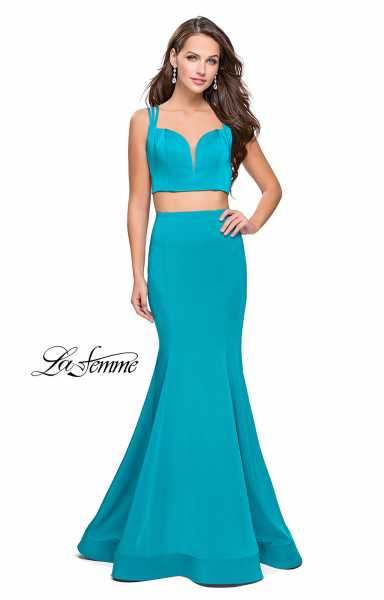 La Femme 25553 Fitted and Two Piece picture 2