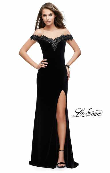 La Femme 25591 Off The Shoulder and Sweetheart picture 1