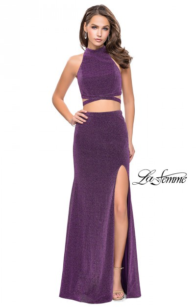 Long 2 Piece Fitted Shimmer Jersey