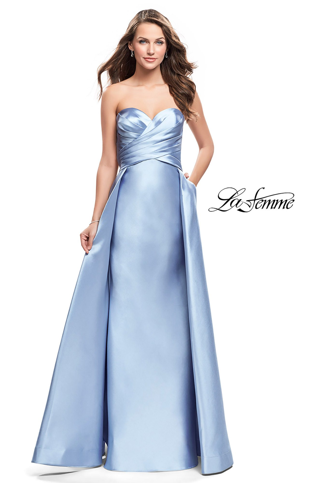 La Femme 25738 - Strapless A-Line Mikado Prom Dress