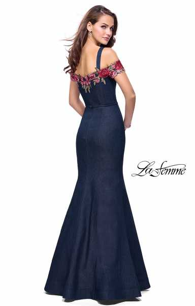 La Femme 25753 Off The Shoulder and Sweetheart picture 1