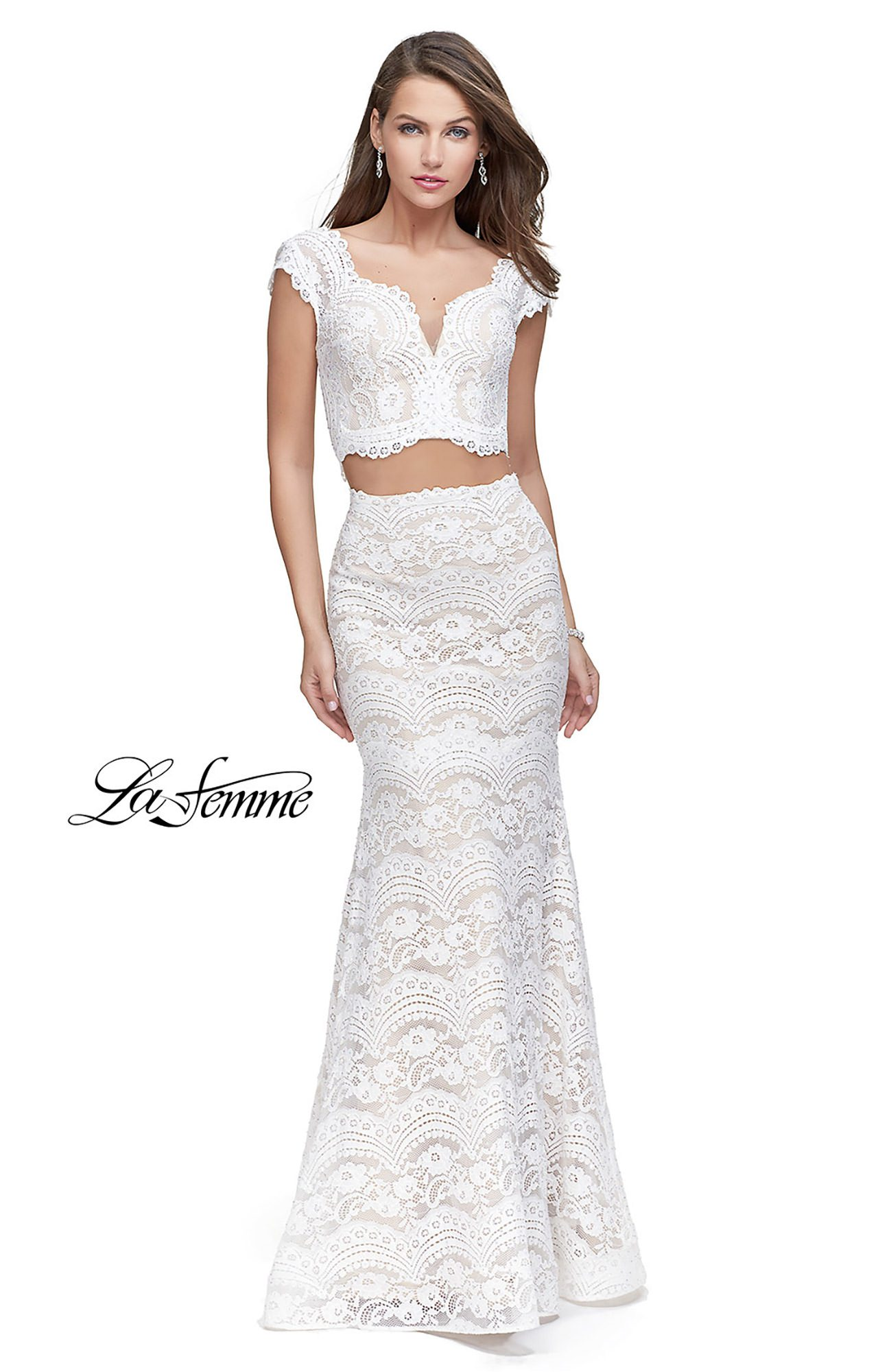 Two Piece Lace Dress