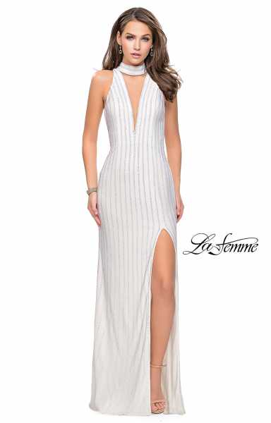La Femme 25967 High Neck and V-Shape picture 1