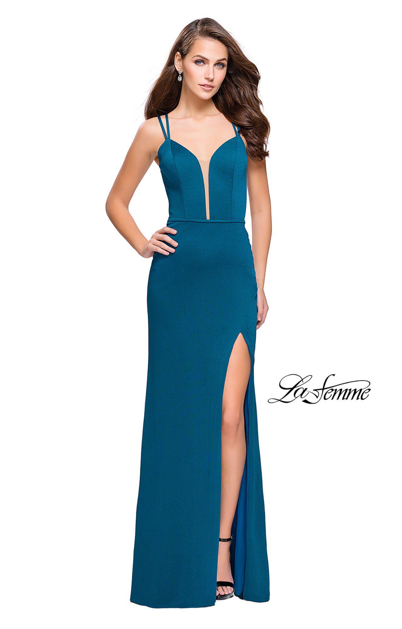 La Femme 26023 - Long Fitted Jersey Prom Dress