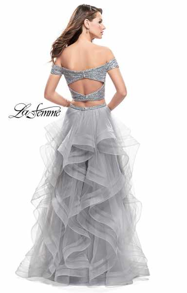 La Femme 26169 Off The Shoulder and Sweetheart picture 1