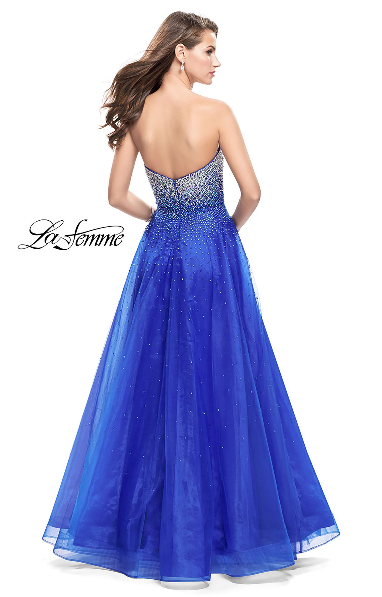 La Femme 26264 - Strapless Tulle Ball Gown Prom Dress