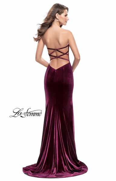 La Femme 25158 Strapless and Sweetheart picture 1