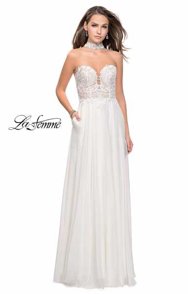 La Femme 25450 High Neck, Strapless and Sweetheart picture 1