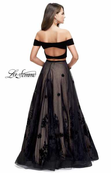 La Femme 25574 Off The Shoulder and Sweetheart picture 1