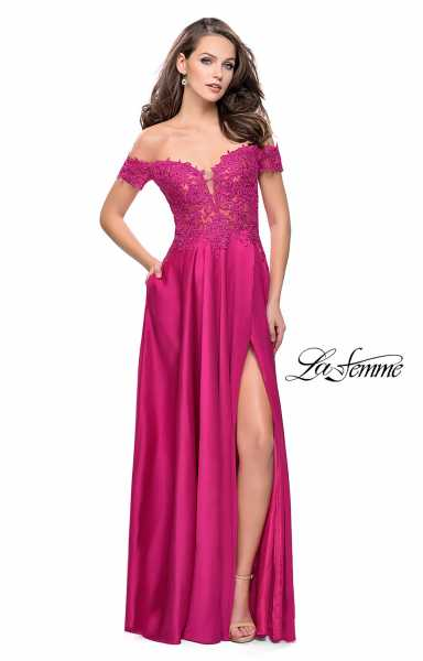 La Femme 25694 Off The Shoulder and Sweetheart picture 1