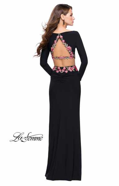 La Femme 25695 Fitted and Two Piece picture 2