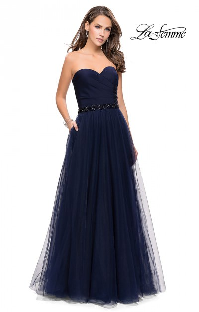 Strapless A-Line Tulle