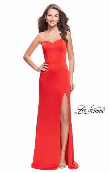 La Femme 26253 Strapless and Sweetheart picture 1