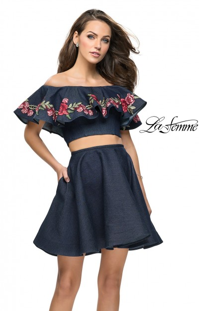 Short Two Piece Off the Shoulder Dress