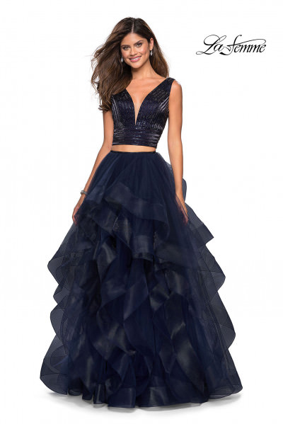 0a43e0de0b1 Layered Tulle A-Line Two Piece Dress  498.00. Morilee Prom 43048