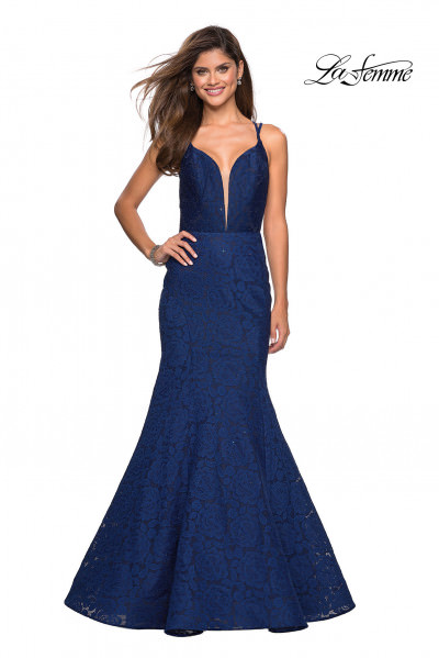 23925b9c10b8 Sweetheart Neckline Satin Flowing Dress $398.00. La Femme 27560