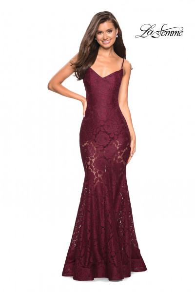 91ffb0b10f0 Simple Strappy Ball Gown  398.00. La Femme 27584