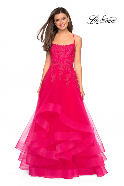 a2508c1bb4b Layered Tulle Ruffle Ball Gown  498.00