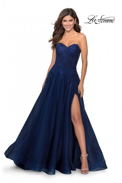 La Femme 28599 Strapless and Sweetheart picture 1