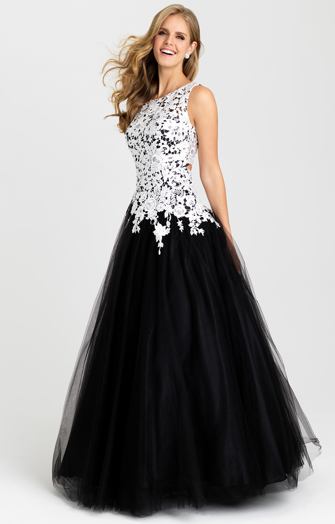 Madison James 16-342 - Champagne and Caviar Gown Prom Dress