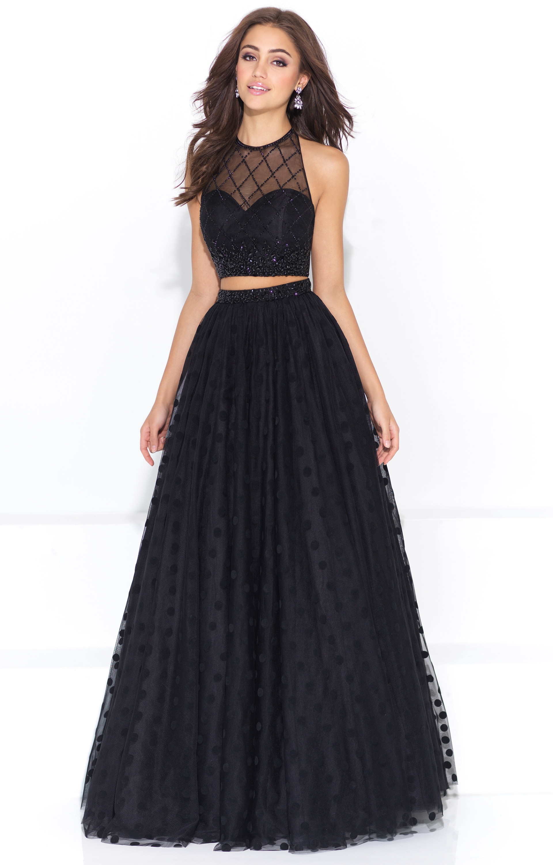 Madison James 17 202 Two Piece Ball Gown With Lace Prom