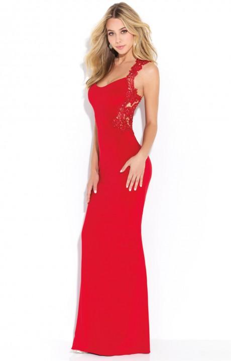 Madison James 17270 - Jennifer Lawrence Lace Gown Prom Dress