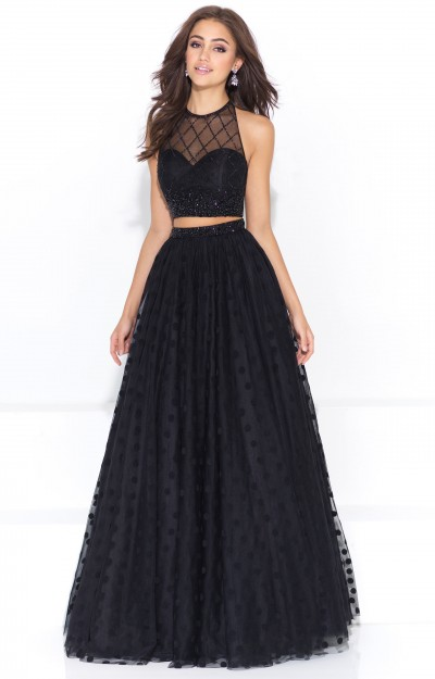 Two Piece Ball Gown with Lace