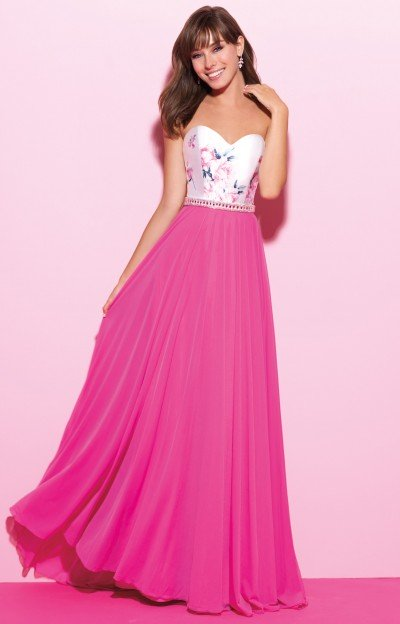 Sweetheart Strapless Chiffon Long Dress