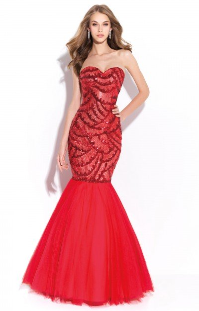 Strapless Sweetheart Mermaid with Sequins