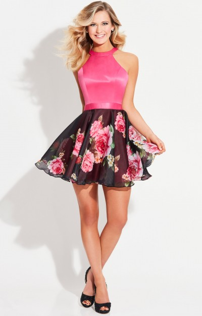 Halter Floral Short Dress