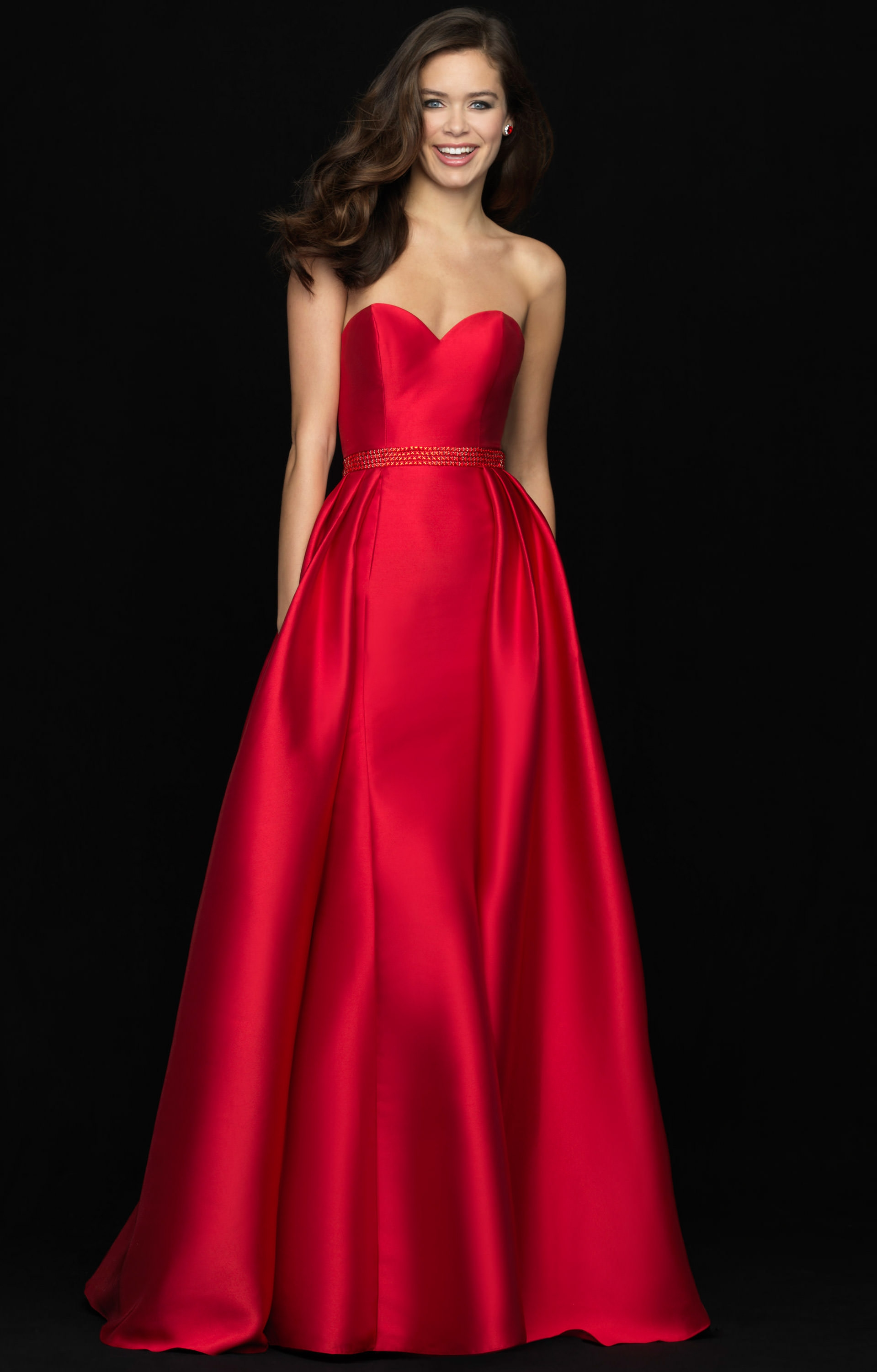 Madison James 18-643 - Strapless Ball gown Prom Dress