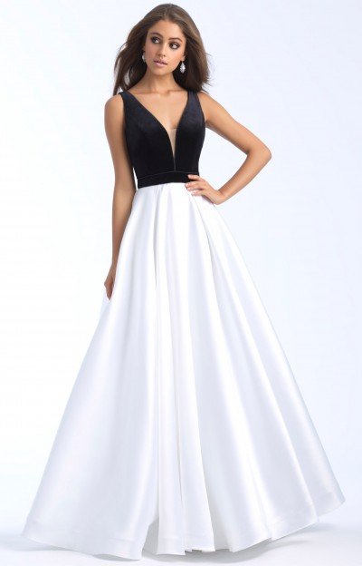 Black And White Prom Dresses Formal Evening Homecoming