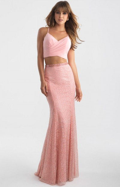 Long Fitted Lace 2 Piece