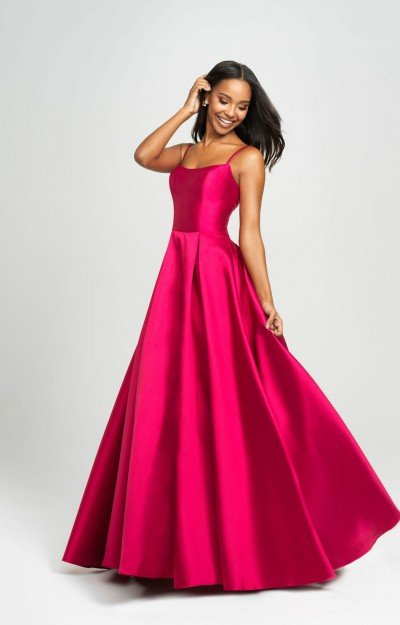 Simple Sleeveless Mikado Ball Gown Dress