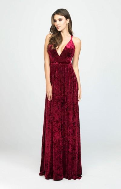 6b06debc358ef Strapless Velvet Bodice Satin Ball Gown $278.00. Madison James 19156