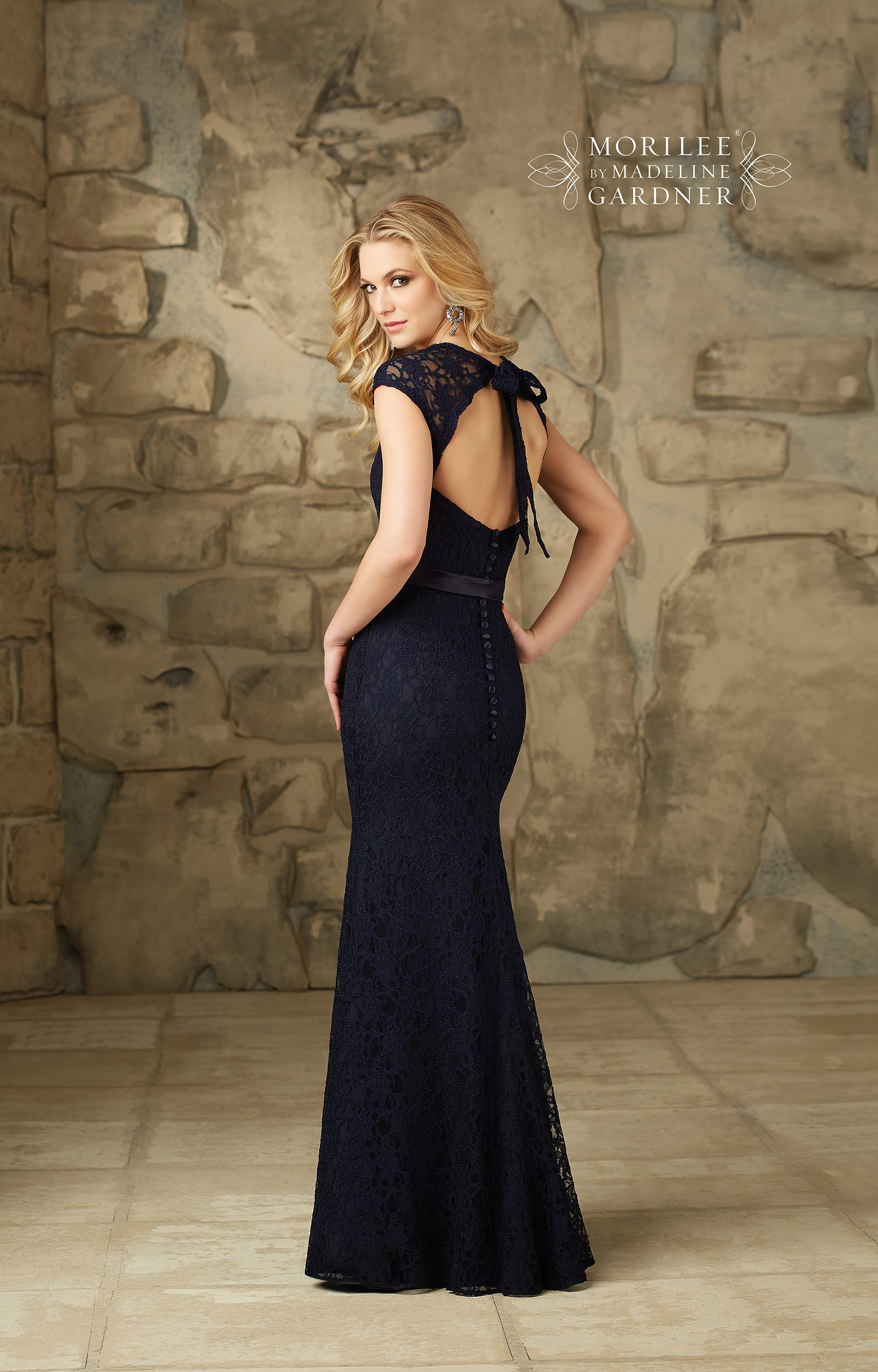 Mori Lee Bridesmaid 108 Cap Sleeve Mermaid with Lace