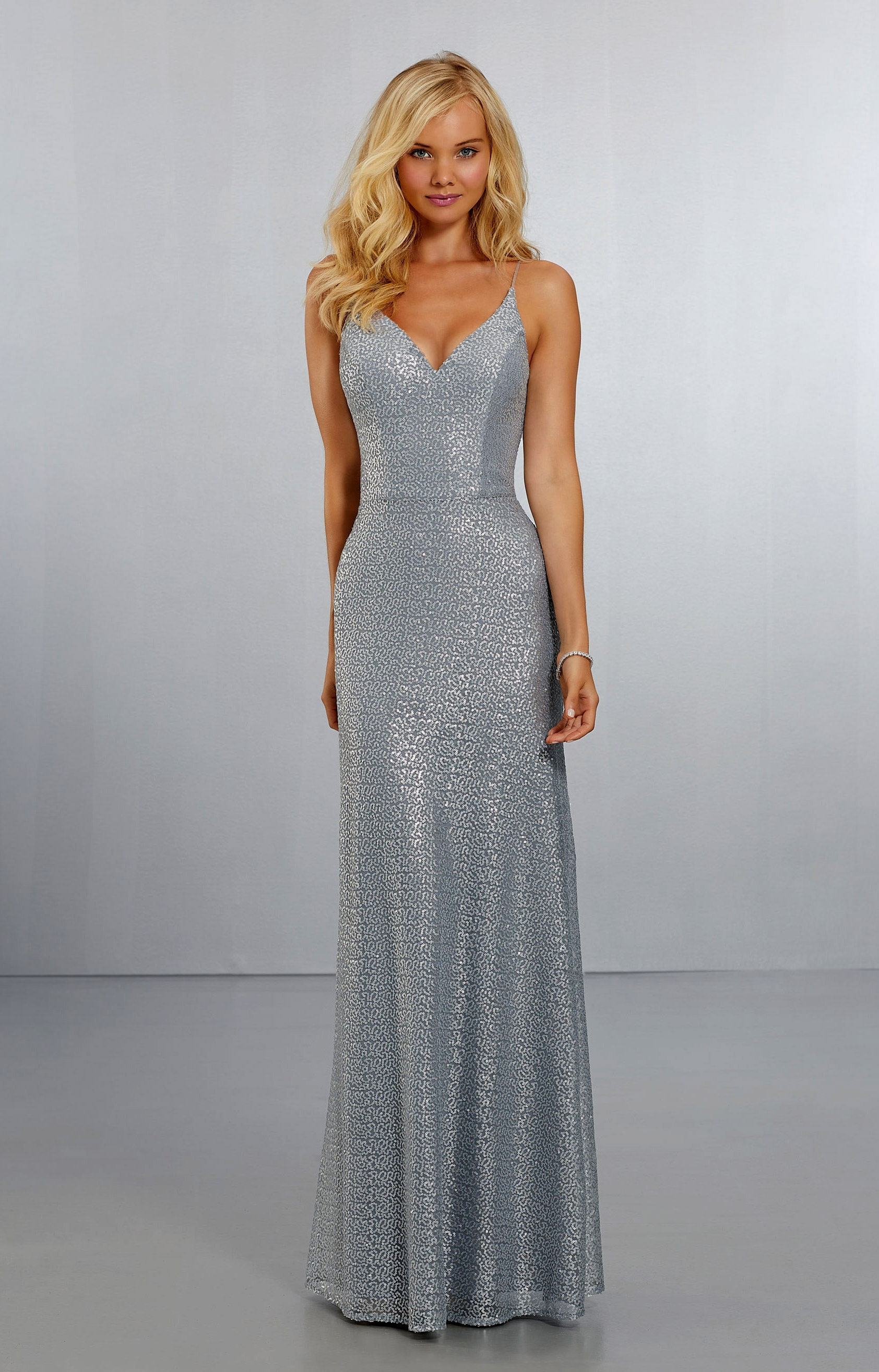 5940f9e974ad1 Morilee Bridesmaid 21555 - Long Fully Sequined V-Neck