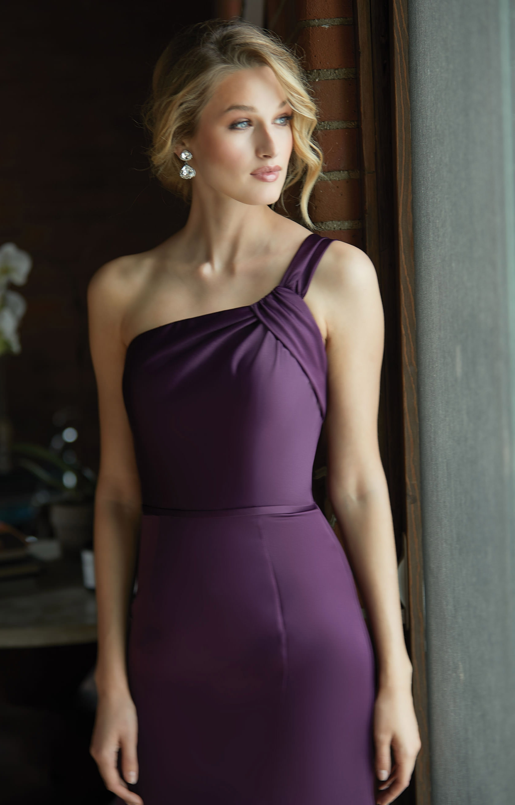 8ec9e985f354 Morilee Bridesmaid 21587 - One Shoulder Fitted Satin Mermaid Dress